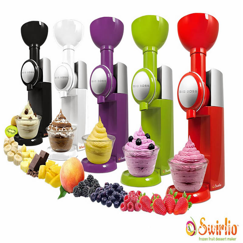 Mini DIY Fruit ice cream machine Automatic Ice Cream Machine soft ice cream maker commercial making ice cream 160w 1pc free shiping fried ice cream machine 75 35cm big pan with 5 buckets fried ice machine r22 ice pan machine ice cream machine