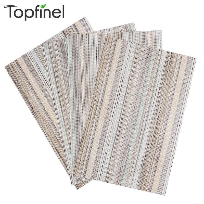 Aliexpress Com Buy 2016 Top Finel Modern Striped Faux: Aliexpress.com : Buy Top Finel 2016 Set Of 4 PVC