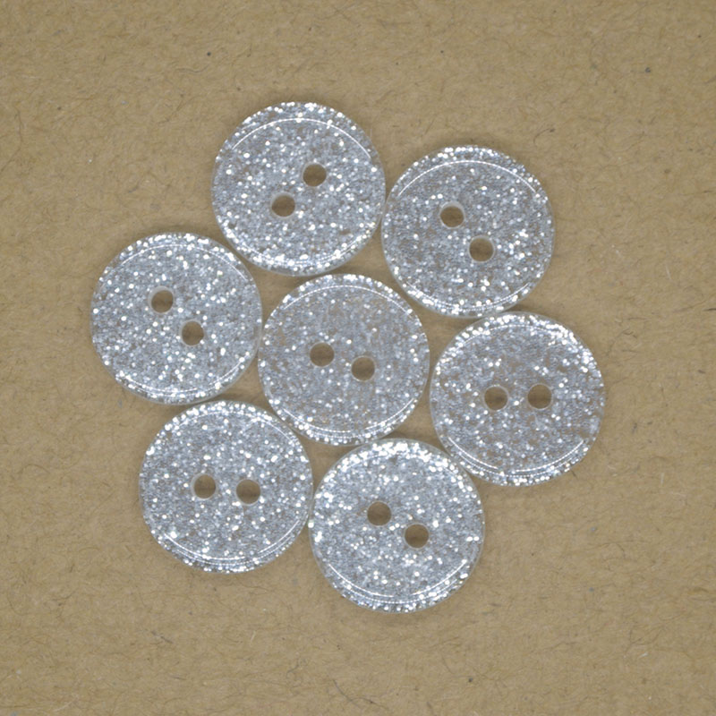 Tiny Silver Tige Boutons 8 mm 50pcs