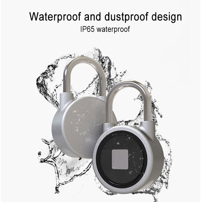 Fingerprint Recognition Bluetooth Lock APP Control Anti Theft Padlock for Gate Luggage Bicycle DAG-shipFingerprint Recognition Bluetooth Lock APP Control Anti Theft Padlock for Gate Luggage Bicycle DAG-ship