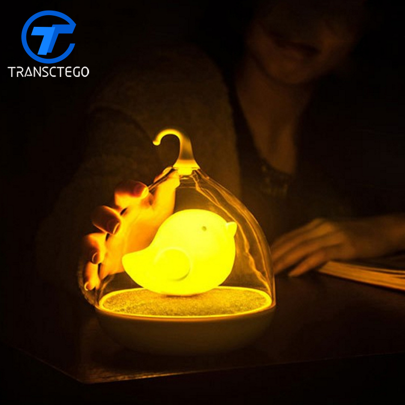 Birdcage Light LED Night Light For Bedroom Usb Charging Touch Sensor Dimmable Minion Lamp kids Lamp Baby lights