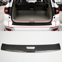 For Toyota Fortuner 2016 2017 AN160 Plastic Outer Door Bumper Protector Plate Trim Accessories car styling