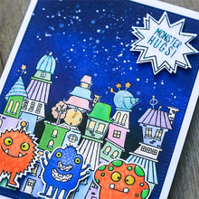 InLoveArts Monster Bash Metal Cutting Dies Clear Rubber Silicone Stamps Card New 2018 DIY for Scrapbooking Craft Template