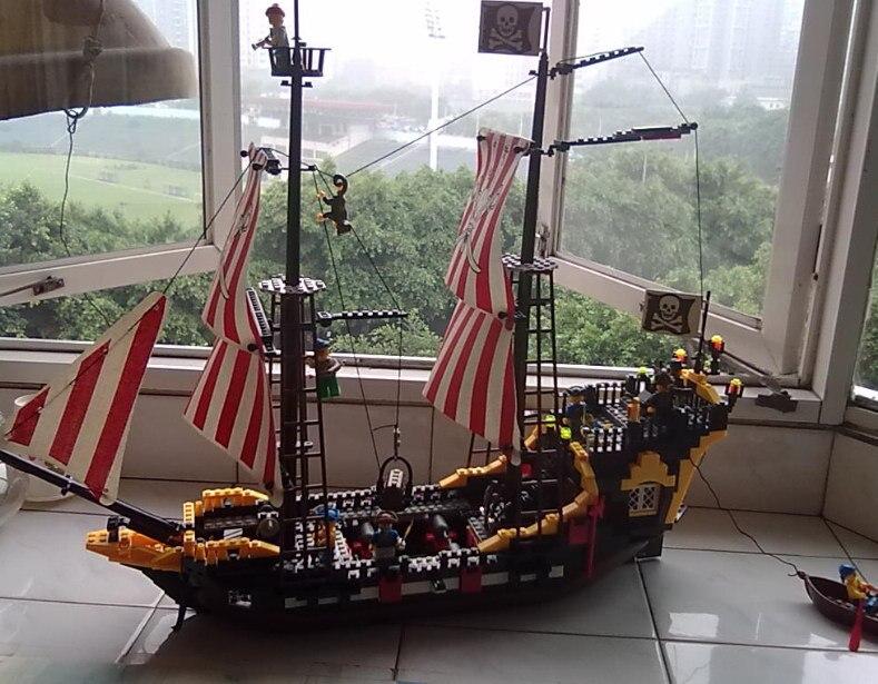Éclairer 308 Compatible Avec Lego Pirates Navire Série Perle Noire Modèle Blocs De Construction Kit Briques Jouets Éducatifs Cadeaux