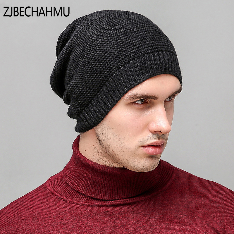 New Winter Hats Solid Hat Female Unisex Plain Warm Soft Women's Skullies Beanies Knitted Touca Gorro Caps For Men Women 2017 unisex solid plain warm skullies beanies knitted touca gorro autumn winter caps hip hop slouch skullies for men women