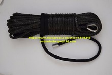 Black 10mm*30m Synthetic Rope,3/8 x 100 Winch Cable,Replacement Winch Cable,Off Road Rope,Towing Rope