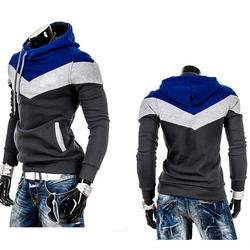 Fashion Autumn Hoodies Men Sweatshirt Male Stitching Hooded Hip Hop Long Sleeve Sweatshirt Men Silm Hoodies Outwear 5
