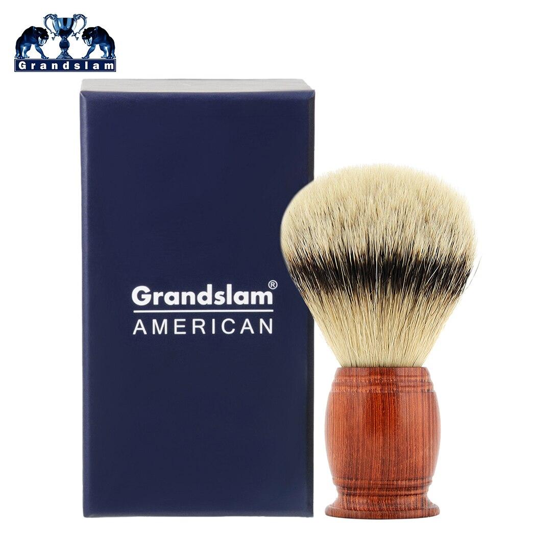 Grandslam 30mm 100 Silvertip Badger Hair Knot Shaving Brush Big Size Genuine Badger Hair Men Beard