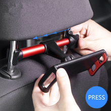 4\-11\ Car Back Seat Phone Tablet PC Holder For IPhone Samsung IPad 360 Degree Rotation Car Mount Headrest Bracket Stand m07 360 degree rotation bracket w c61 back clamp for samsung i9200 ipad mini black