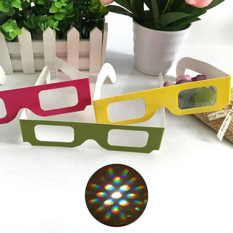 Party Fireworks Rave Paper Diffractive Glasses With Flame