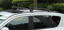 Black Roof Rack Cross Bars Rails brush guard rack luggage Bar for Jeep Compass 2011 2012 2013