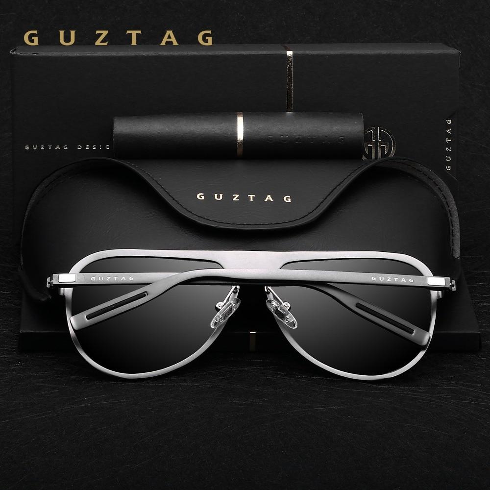 GUZTAG Unisex Classic Brand Män Aluminium Solglasögon HD - Kläder tillbehör - Foto 4