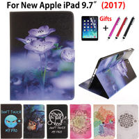 Fashion Cat Panda Painted Case Cover For Apple New IPad 9 7 2017 Funda Case Model