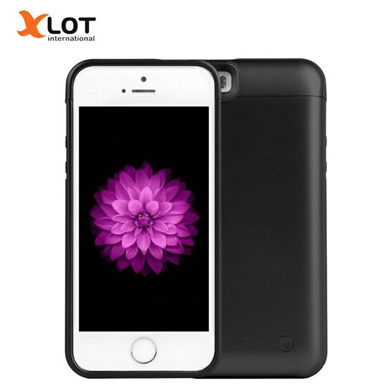 5 5S Recarregável Poder Caso 4200 mAh Bateria Externa Carregador de Backup caso Banco Power Pack para o iPhone Da Apple 5 5S 5c SE