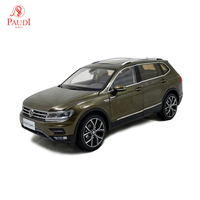 Paudi Model 1/18 1:18 Scale VW Volkswagen New Tiguan L 2017 Brown Diecast Model Car Toy Model Car Doors Open