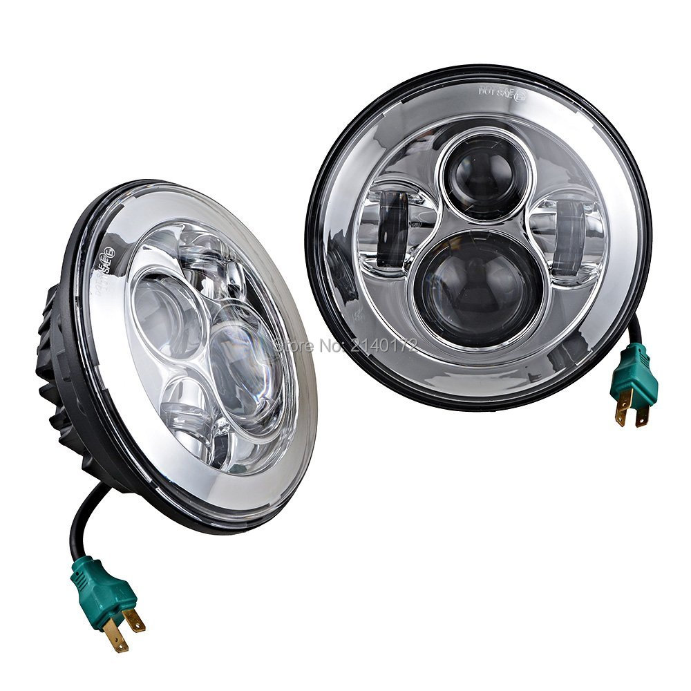 40W 7 INCH  LED Projection Headlights 7'' led headlamp  for Jeep 97-15 Wrangler JK TJ LJ Land Rover Defender 90 110 руководящий насос range rover land rover 4 0 4 6 1999 2002 p38 oem qvb000050