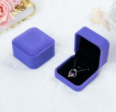 100pcs/lot fedex fast Squre Wedding Velvet Earrings Ring Box Jewelry Display Case Gift boxes solid carring cases
