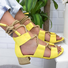 Women New Sandals Women High Heel Peep Toe Lace Up Sandals