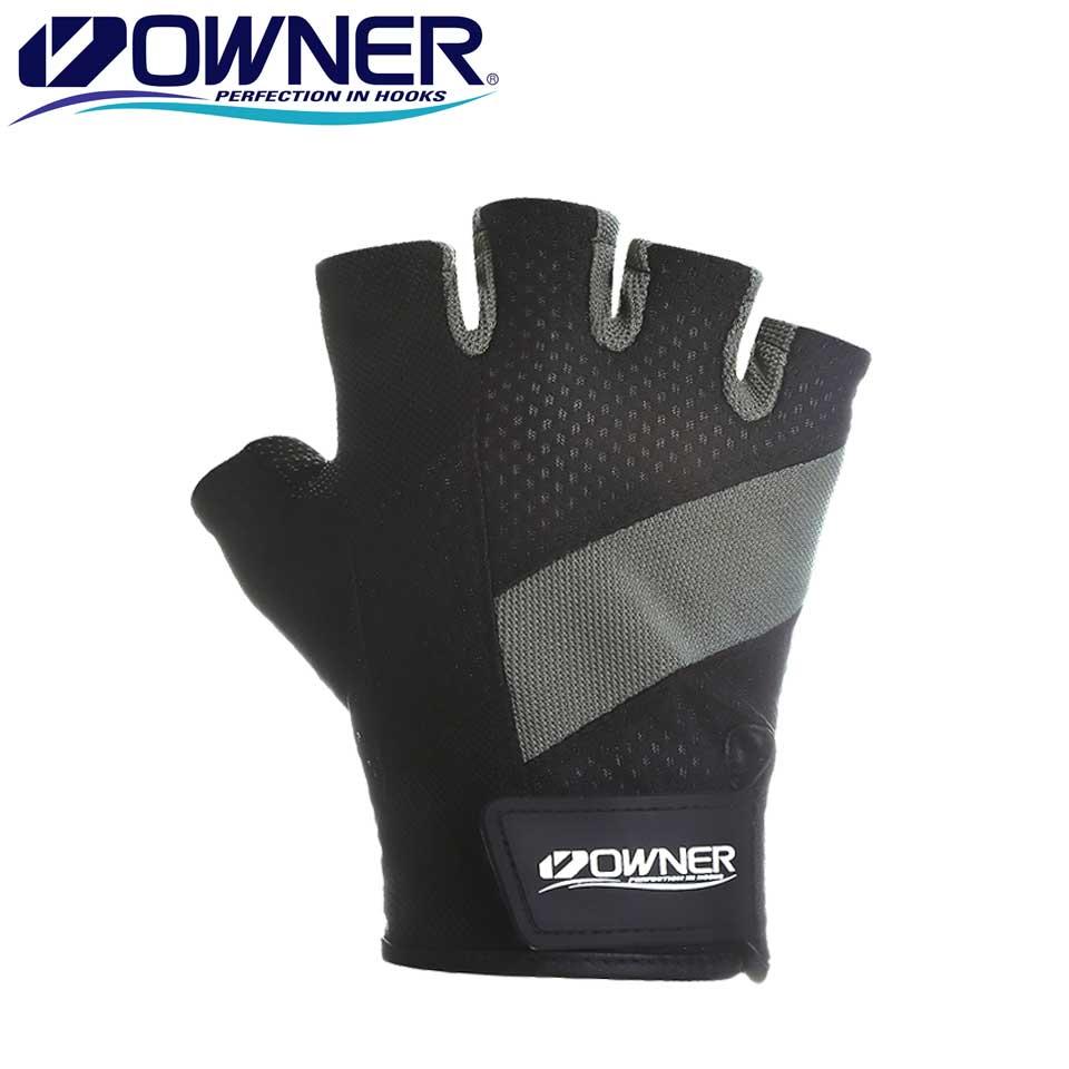 Owner Fishing Gloves Fingerless Men Outdoor Anti-Slip Sport Fishing Gloves Mesh-backed Fingerless Gloves Jigging Gloves