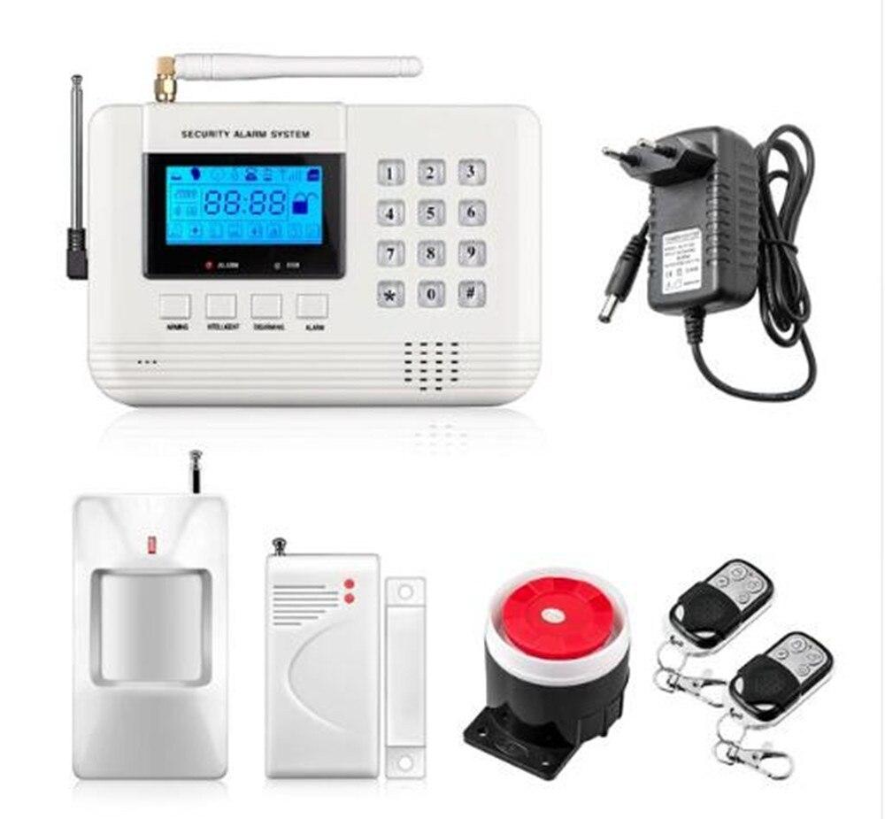 Keyboard Control Dual Network GSM+PSTN Burglar Alarm System dual band gsm pstn burglar alarm system