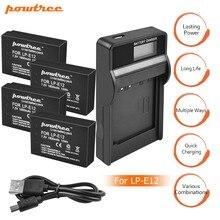 4Packs 7.2V 1800mAh AKKU LP-E12 LPE12 LP E12 Battery+1 USB Charger with LED for Canon EOS M10 M100 M2 100D Kiss X7 Rebel SL1 L15