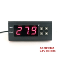 AC 220V 10A LCD Display Digital Thermostat Regulator Temperature Controller With NTC Sensor