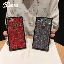 Luxury Fashion Square Laser Rainbow Powder Phone Case For iPhone 7 8 6 6S Plus X XS Max XR Meteor Shower Shine Soft Cover