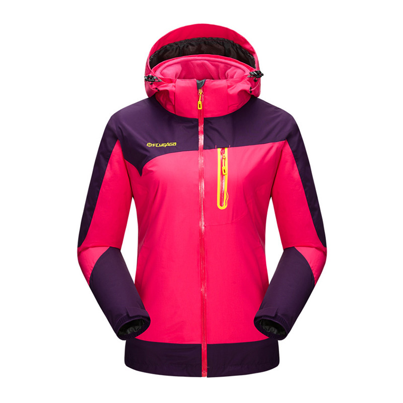 Winter Windstopper Trekking With Fleece Liner Waterproof Outdoor Jacket Women Hiking Camping Sport Coat Climbing Chaquetas Mujer new outdoor sport windbreaker waterproof jacket men hiking camping skiing climbing winter coat fleece lining jaqueta masculino