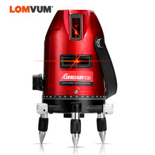 LOMVUM 3 Lines Laser Level 360 RED Light Cross-Line Vertical Horizontal Lasers for Indoor Outdoor Measuring LD600(China)