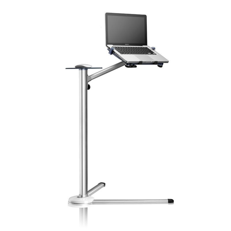 UP 7 Height Adjustable Laptop Floor Stand Aluminum Lapdesks Rotating Notebook Bed Holder with Mouse Tray