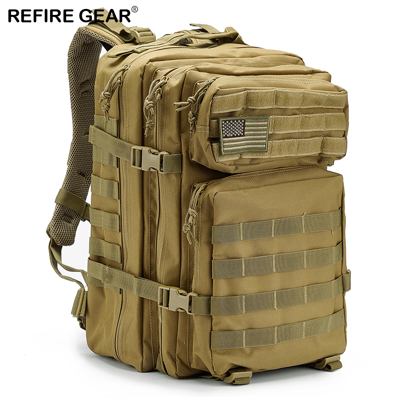 Contemplative Refire Gear Outdoor Tactical Backpack Large-capacity Waterproof Army Solider Bag Hiking Hunting Fishing Bag Camp Trekking Pack Year-End Bargain Sale