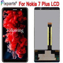 """6.0 """"새로운 AMOLED 디스플레이 노키아 7 플러스 LCD 7 플러스 디스플레이 터치 스크린 디지타이저 노키아 E7 플러스 LCD Replacment TA 1062 LCD"""