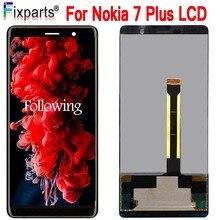 """6.0 """"nuovo AMOLED Display Per Nokia 7 Più 7 Più Il Display A CRISTALLI LIQUIDI di trasporto di Tocco Digitale Dello Schermo Per Nokia E7 Più LCD Replacment TA 1062 LCD"""