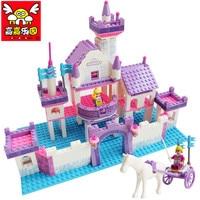 316pcs Color Box Dream Princess Castle Building Blocks Model Learning Education Toys For Children Best Birthday