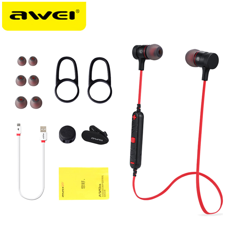 AWEI A920BL Update Version Bluetooth V4.1 Earphone Wireless Headphone With Microphone Neckband Headset Auriculares kulakl k 4