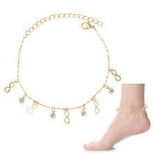 F & U Девушки Мода Лето Подарок Золотые и Серебряные Цвета Простой Стиль Маленькая Мотаться Шарм Настроить Размер Браслеты
