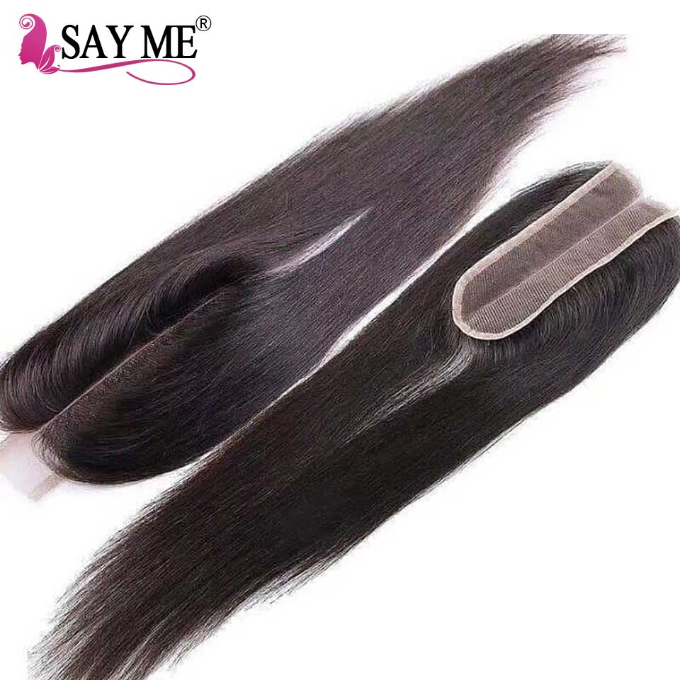 Kim K 2*6 Lace Closure Deep Middle Part Human Hair Closure For Black Women Brazilian Straight Closure With Baby Hair Free Ship