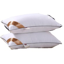 Thickened Feather Pillow PP Cotton Core Bedding Set 48*74cm Solid Color Inner Bedroom Home Textile & Living