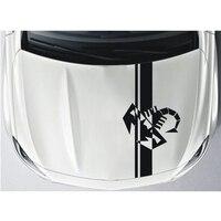 For Fiat Bonnet Racing Stripes Punto 500 Abarth Scorpion Graphic Decals YongXun
