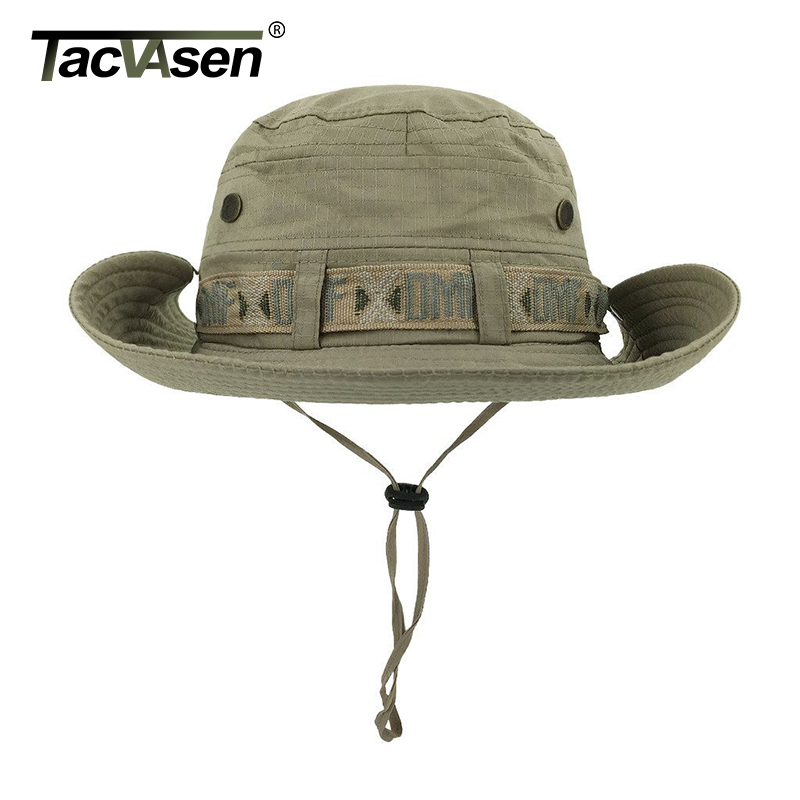 Image 3 - TACVASEN Army Men Tactical Sniper Hats Sun Boonie Hat Summer Sun Protection Cap Men's Military Fish Hunt Hats Caps TD YWYG 001-in Men's Sun Hats from Apparel Accessories