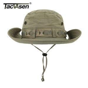 Image 3 - Тактические мужские тактические снайперские шляпы TACVASEN, шляпа ведро с рыбой, летняя шляпа от солнца, шляпа для сафари, военные походные охотничьи шапки