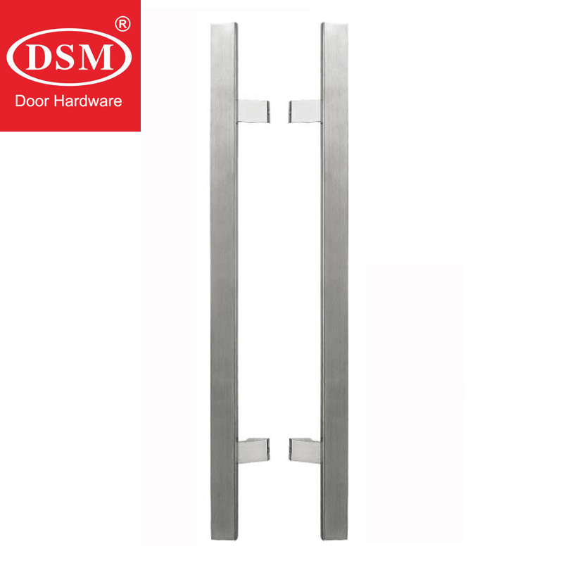 Frame Door Handle PA-123-30*15*600mm Glass Door Handle Stainless Steel Pull Handles For Entry/Front Wooden/Metal/Glass Doors antimicrobial black solid nylon offset door pull handle for entrance glass wooden metal frame doors pa 797