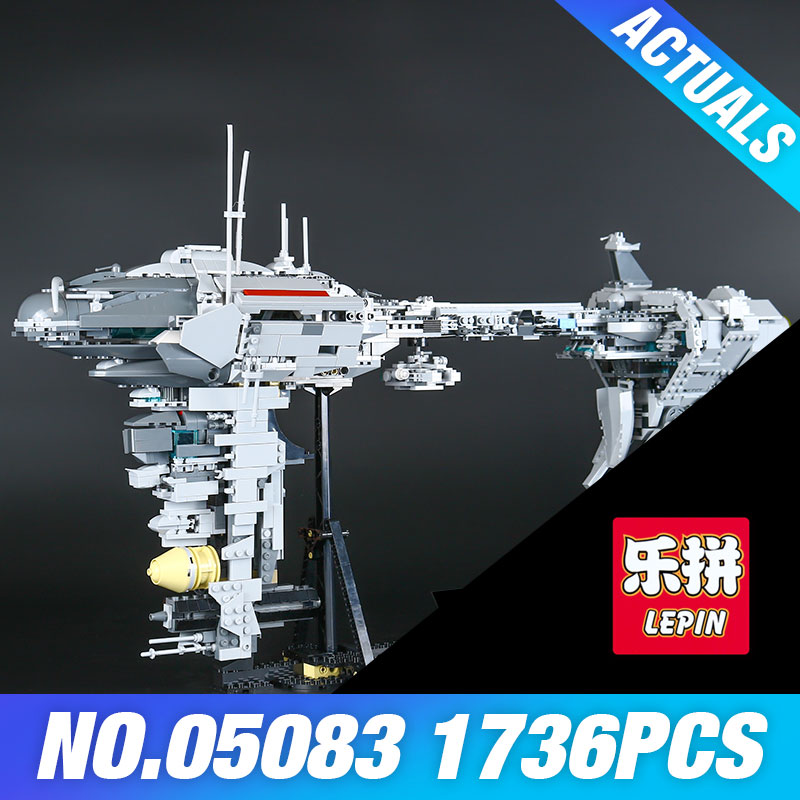 LEPIN 05083 Star 1736Pcs War MOC Series The Nebulon-B Medical Frigate Set Children Educa ...