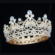 Rhinestone Crystal Queen Princess Tiara Crowns Peacock Bridal Hair Jewelry Accessories Wedding Quinceanera for Pageant