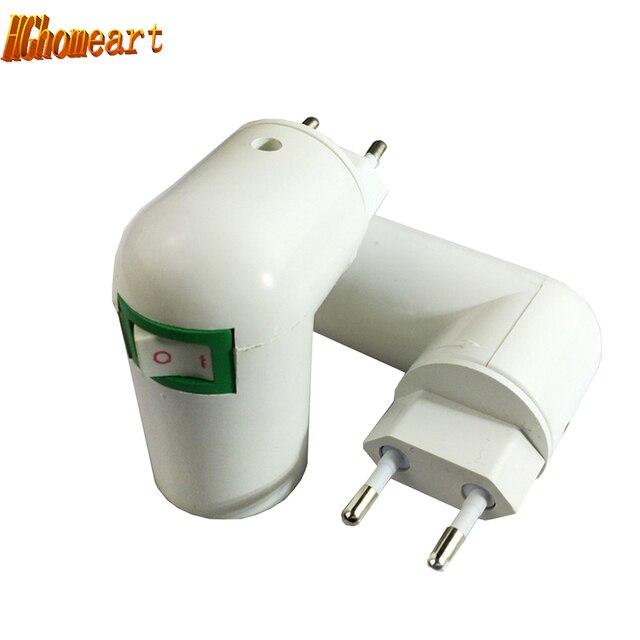 360 Degrees Eu To E27 Lamp Bases 110V 220V power socket Lamp Holder ...