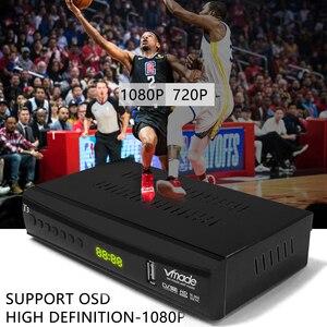 Image 3 - Vmade DVB T2 حامل صندوق التلفزيون يوتيوب H.265 Dobly + USB واي فاي DVB T3 موالف التلفزيون USB 2.0 HD الرقمي الأرضي مستقبل التلفاز مع سكارت