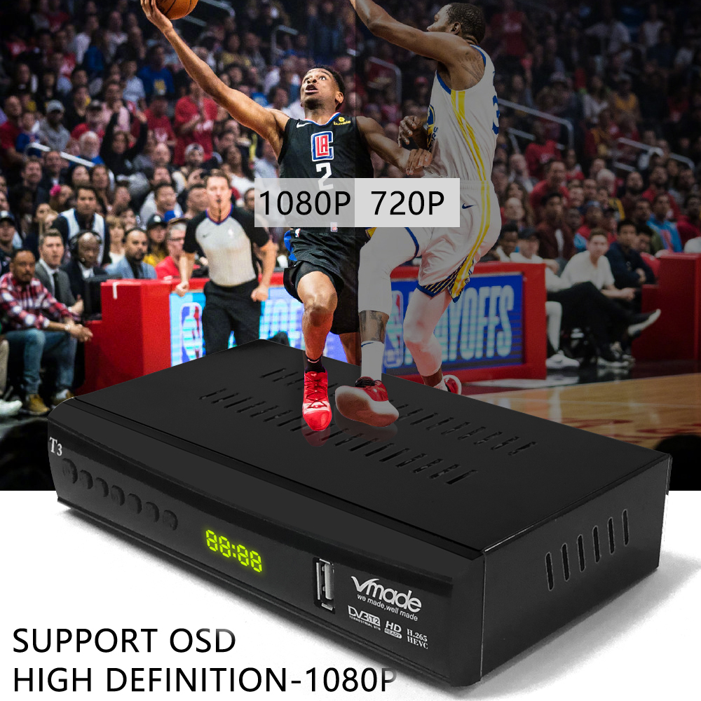 Image 3 - vmade DVB T2 tv box support youtube H.265 Dobly + USB WIFI DVB T3 TV tuner USB 2.0 HD Digital Terrestrial TV Receiver with scart-in Satellite TV Receiver from Consumer Electronics