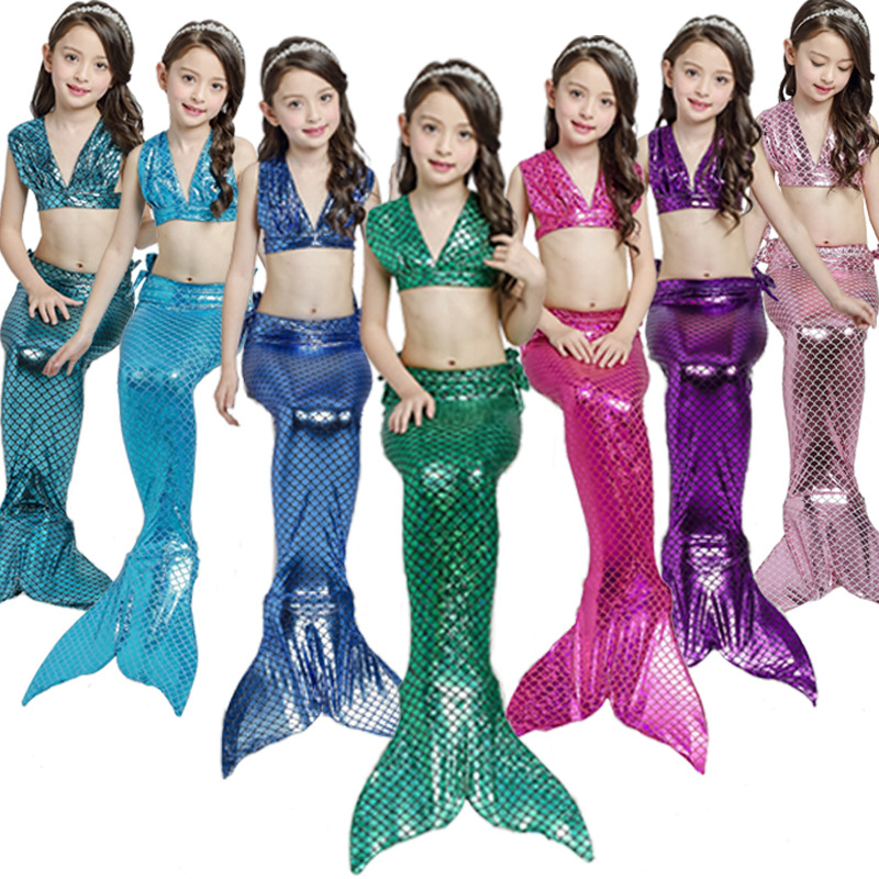 Mermaid Dress 2018 Girl Dresses Sexy Long Evening Party Swimsuit Children Tail Costume Halloween Girls