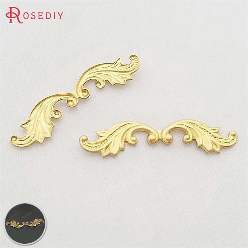 20PCS 30*7MM Antique Bronze Plated Brass Decorative Lace Diy Jewelry Findings Jewelry Accessories Wholesale