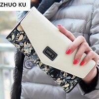2017 New Fashion Women Wallets 5 Colors Floral Wallet Long Popular Portable Change Purse Delicate Casual